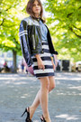 Moschino-jacket-blue-denim-shirt-striped-christian-lacroix-skirt