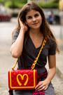 Heather-gray-wrapped-zara-dress-brick-red-plaid-zara-shirt-red-moschino-bag