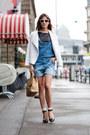 Black-nasty-gal-heels-blue-dungarees-asos-jeans-white-h-m-jacket