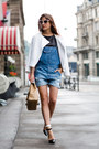 Blue-dungarees-asos-jeans-white-h-m-jacket-beige-chanel-bag
