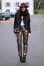 Black-studded-zara-boots-brick-red-h-m-hat-black-h-m-jacket