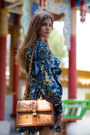 Brown-mcm-bag-dark-brown-zara-shoes-blue-floral-rachel-zoe-dress
