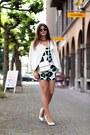 White-jacket-white-bag-white-saint-laurent-pumps