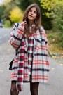 Black-boots-tartan-ganni-coat-letter-print-sheshebonbon-sweater