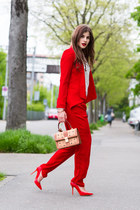 MCM bag - suit - Jimmy Choo pumps