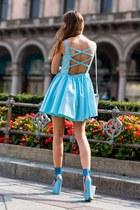 sky blue Casper & Pearl dress - sky blue Kurt Geiger wedges