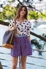 Dotted-shirt-thierry-colson-shorts-stella-mccartney-heels-bird-ring
