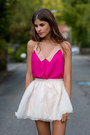 Light-pink-buckle-stylishplus-shoes-hot-pink-collar-clubcouture-top
