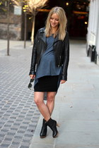 black leather jacket PAUW jacket - black ankle boots Zara boots