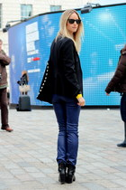 black Alexander Wang boots - black Zara blazer