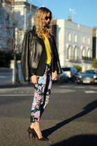 sky blue asos pants - black PAUW jacket - black Zara blazer
