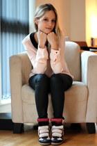 black Zara pants - light pink Zara top - brick red Isabel Marant sneakers