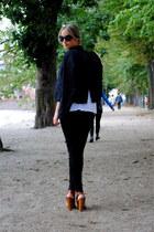 tawny Zara heels - black Kookai jacket - black Zara leggings
