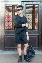 Alexander Wang bag - Birkenstock sandals - H&M jumper