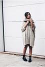 Black-ponyhair-effect-topshop-boots-ivory-sweater-mango-dress