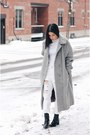 Black-patent-leather-zara-boots-heather-gray-wool-vintage-coat