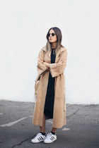 black oakfort dress - tan suede Persephone vintage coat