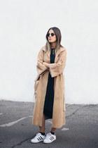 black oakfort dress - tan suede Persephone vintage coat