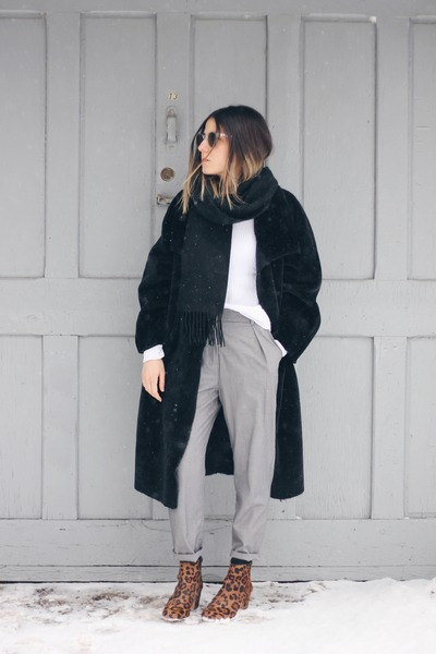 Zara Faux Fur Coat 90