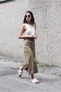 White-topshop-top-dark-khaki-cropped-zara-pants-ivory-fringed-tibi-sandals
