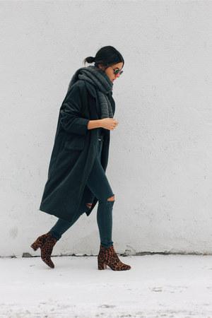 gray jamie Topshop jeans - dark brown leopard print Zara boots