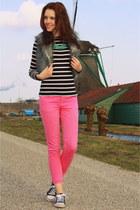 Primark top - fur Primark vest - pink Zara pants