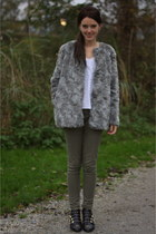 heather gray H&M coat