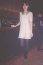 Tan-suede-h-m-heels-cream-lace-zara-dress-gold-h-m-necklace