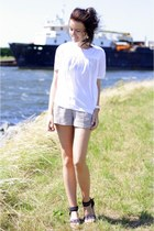striped H&M shorts - silk H&M Trend top