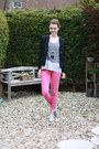 Hot-pink-zara-pants