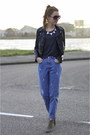 Boyfriend-vintage-jeans-dicker-suede-isabel-marant-boots-leather-h-m-jacket