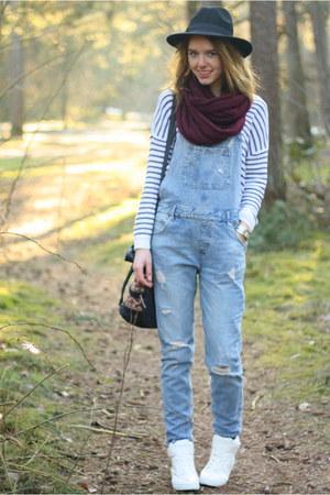 white breton striped Primark shirt - blue Zara jumper - white H&M sneakers