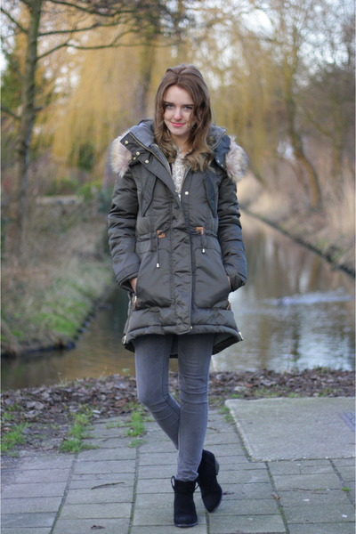 Primark boots - Zara coat - Only jeans
