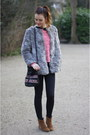 Tawny-zara-boots-heather-gray-h-m-coat-black-topshop-jeans