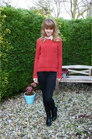 brick red vintage sweater