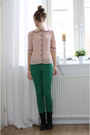 Black-h-m-boots-green-zara-pants-light-pink-primark-blouse