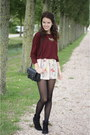 Brick-red-h-m-sweater-black-ankle-primark-boots