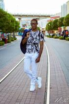 blue slim fit blazer H&M blazer