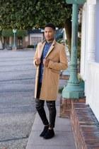 beige camel overcoat asos coat