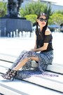 Black-sheer-blouse-target-top-forever-21-skirt-black-target-heels