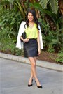 White-asos-blazer-black-zara-skirt-black-dorsay-pumps-nine-west-pumps