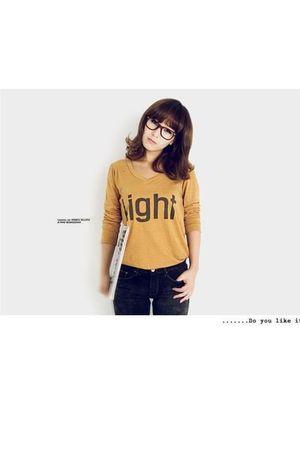 yellow unknown brand korean t-shirt