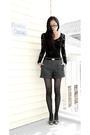 Black-kimchi-blue-dress-gray-forever-21-shorts-black-etsy-belt-gray-hot-