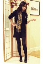 Ralph Lauren sweater - Urban Outfitters dress - mothers closet scarf - ferragamo