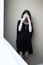 Black-babooshka-dress-black-bdg-skirt-silver-etsy-accessories