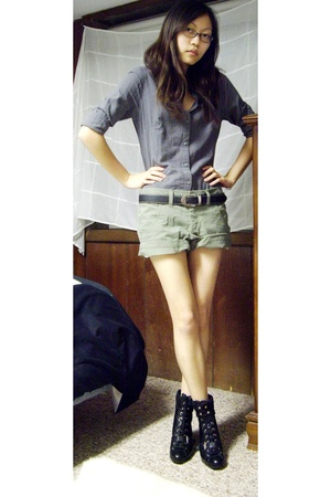 giordano shirt - giordano shorts - somewhere in China belt - Nine West