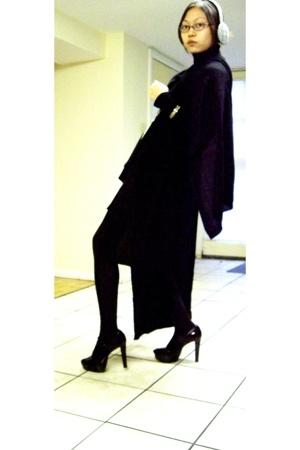 Yesstyle dress - Forever21 vest - H&M scarf - JCrew - Michael Kors - Etsy neckla