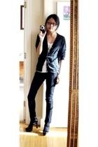 Delias jeans - American Apparel - Uniqlo - Gap socks - Michael Kors - Etsy neckl