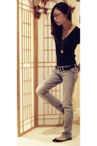 Gap t-shirt - PacSun jeans - Aldo - somewhere in China belt