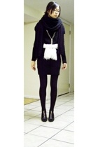 Yesstyle dress - giordano dress - H&M scarf - Forever21 scarf - Gap scarf - Mich